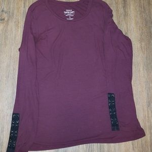 Torrid Burgandy Super Soft Long Sleeve Tee